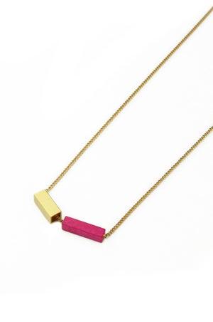 POTIPOTI Accessories Rainbow Kette pink/gold 52cm