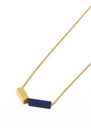 Rainbow Kette - blau/gold