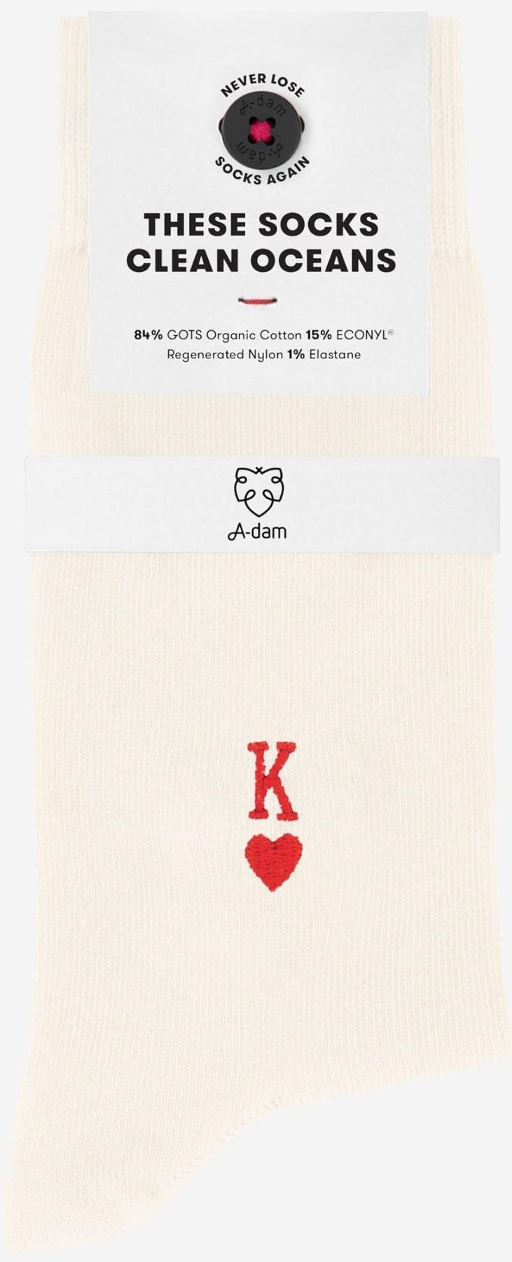 A-dam - Socken KENNY - White