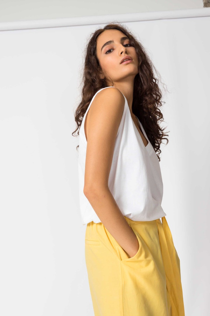 SKFK - DONA Trousers yellow 2