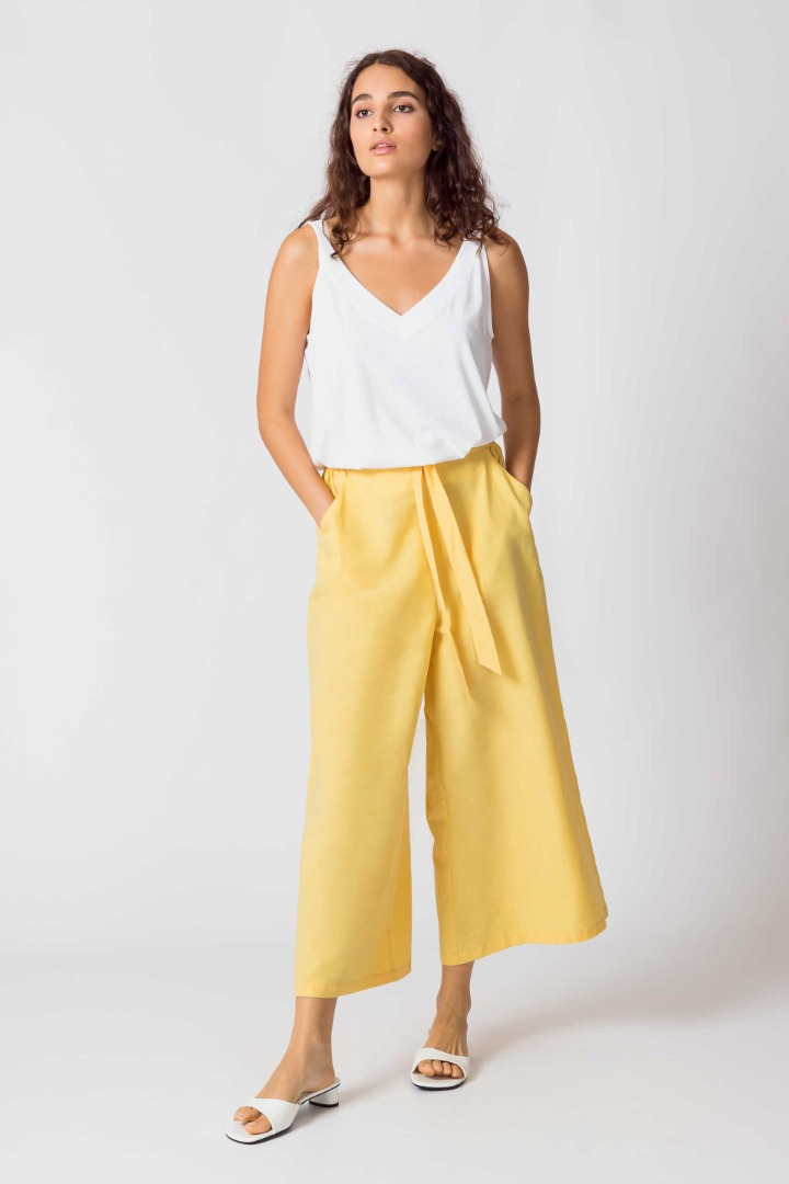SKFK - DONA Trousers yellow 3