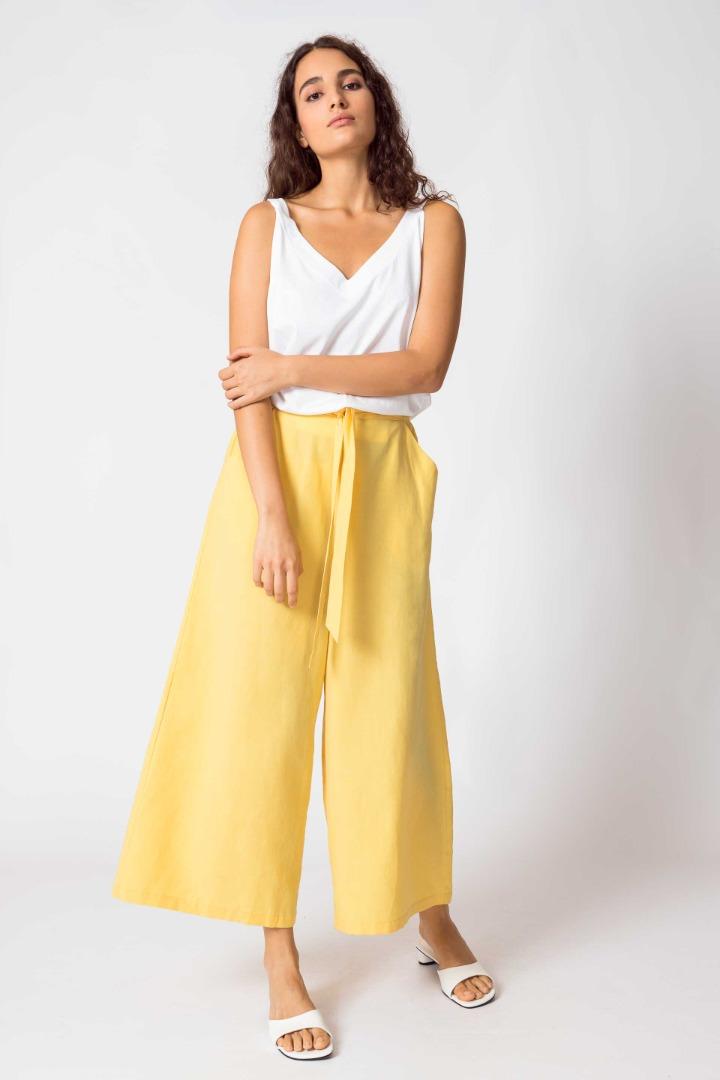 SKFK - DONA Trousers yellow