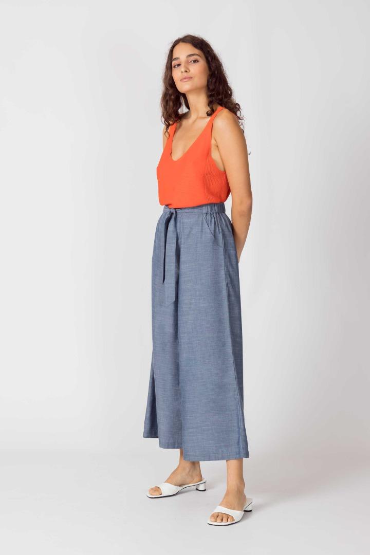 SKFK - DONA Trousers light blue