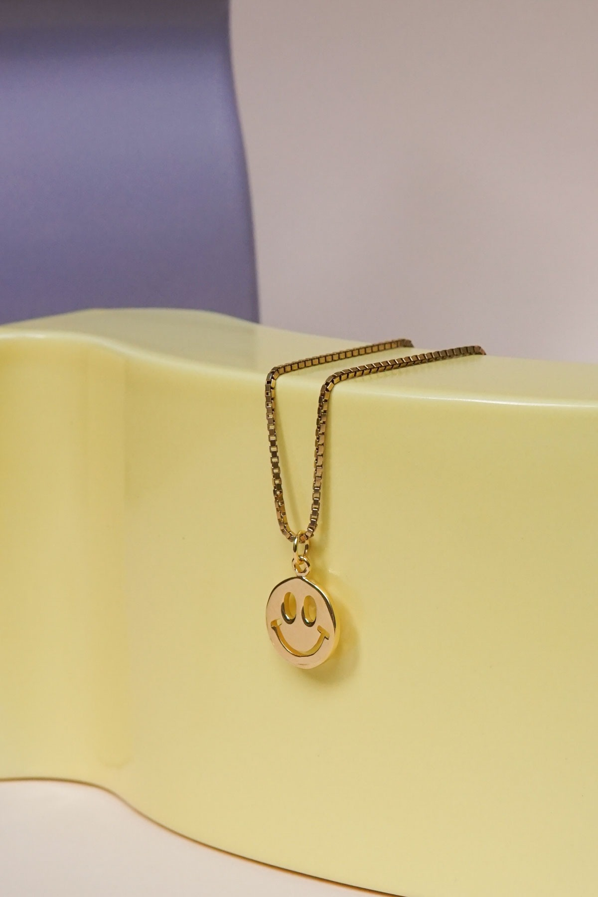 wildthings collectables Smiley pendant gold plated