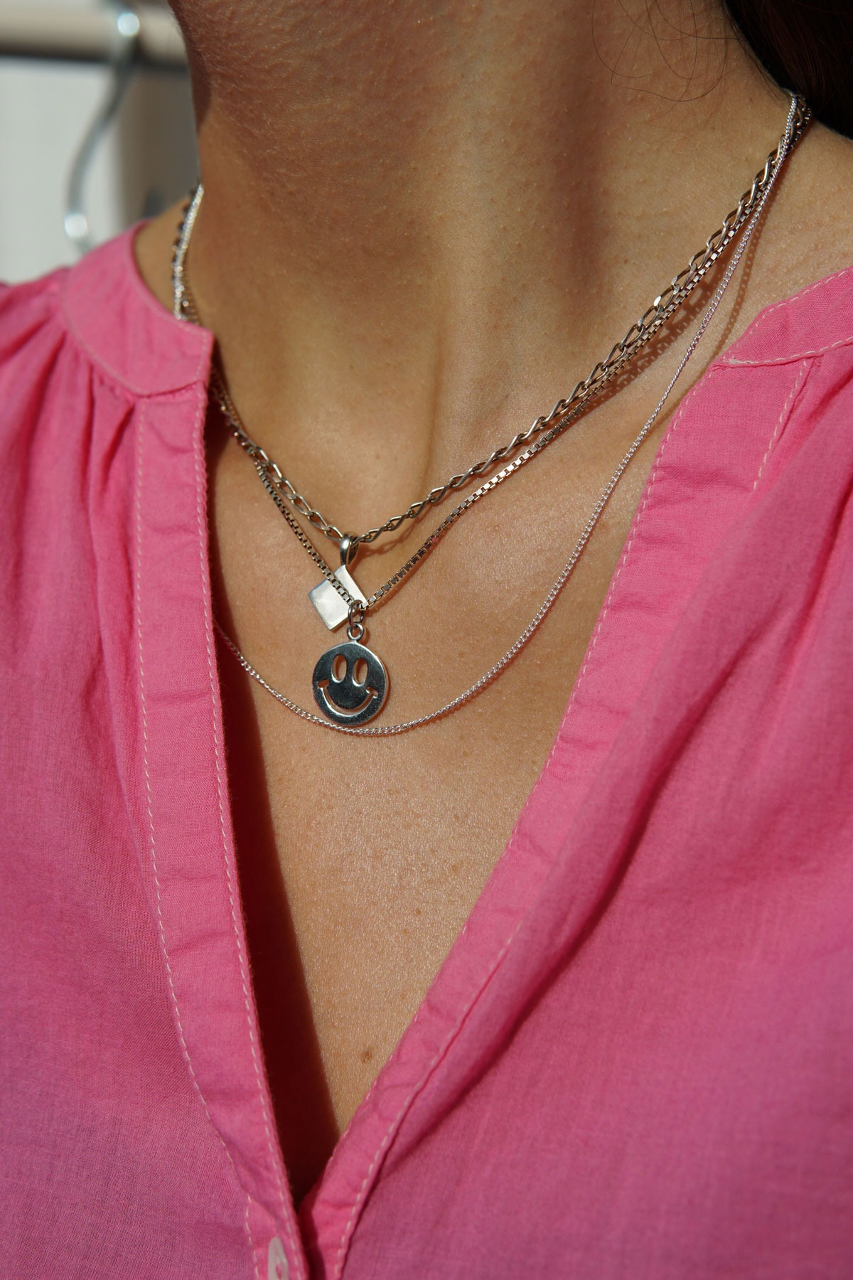 wildthings collectables - Smiley pendant silver