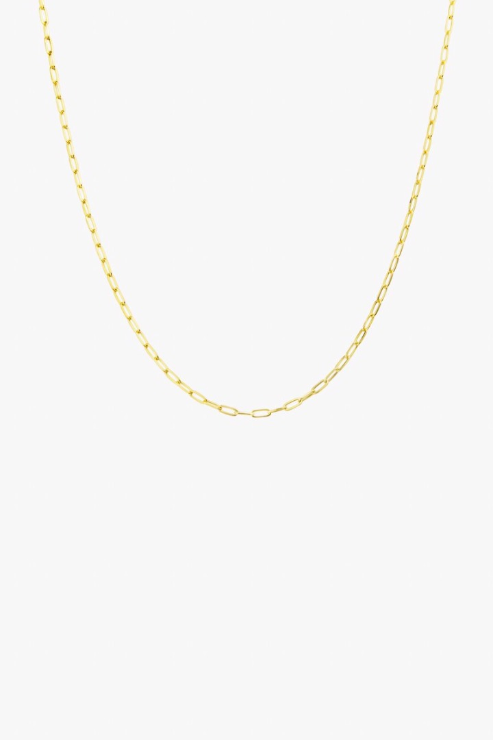 Round gold necklace