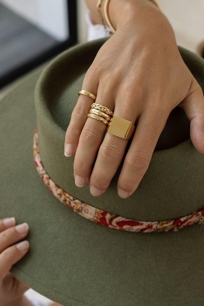 Braided ring gold 3