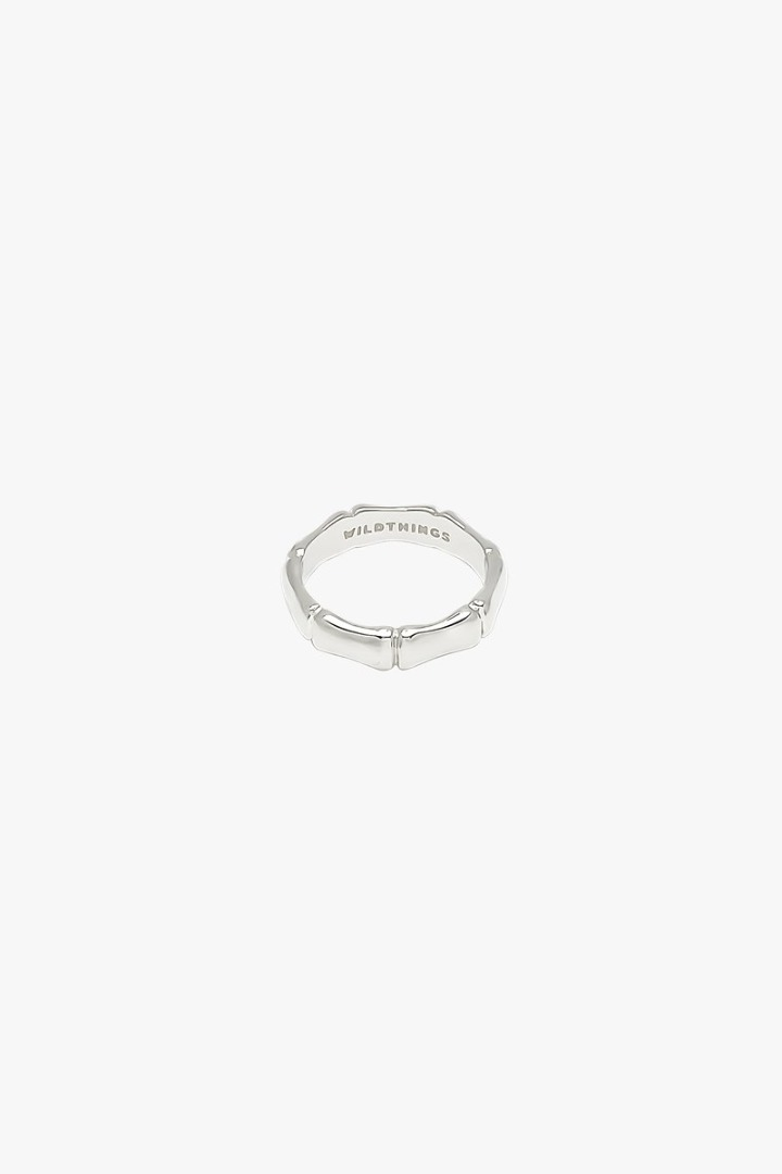 Bamboo ring silver