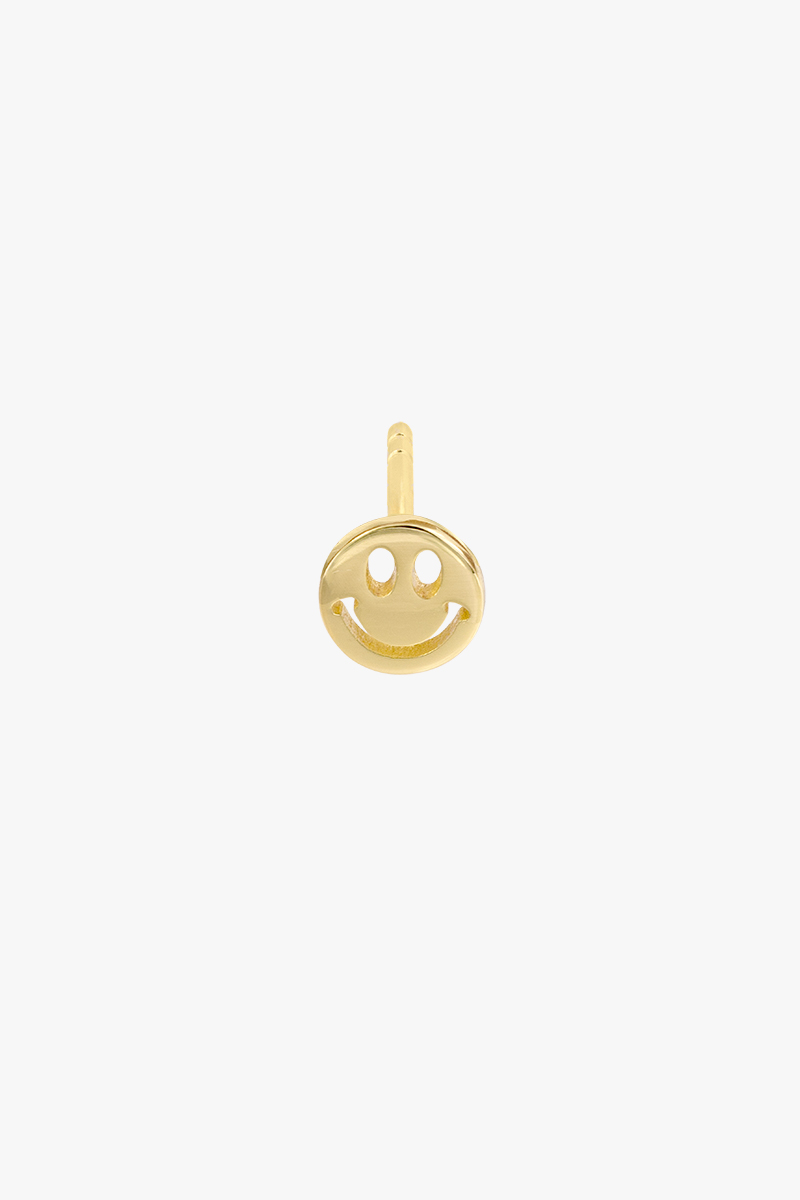 wildthings collectables Smiley stud gold plated