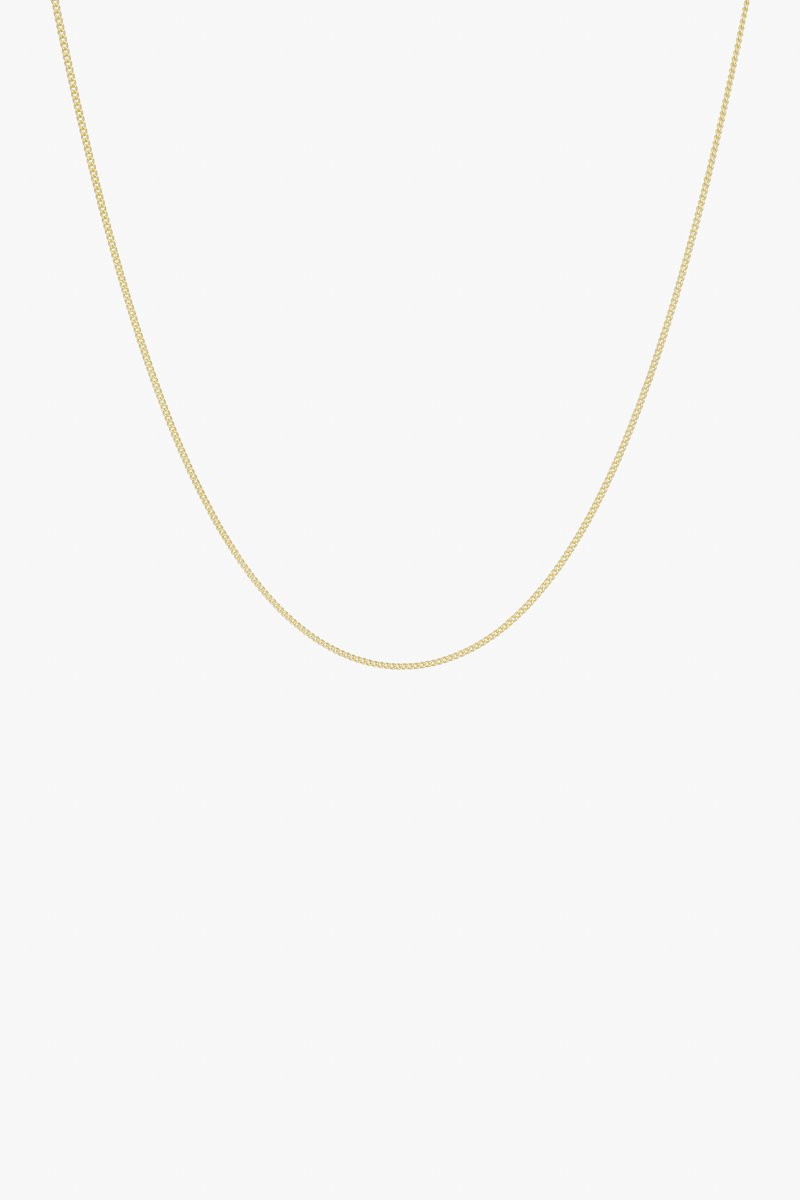 Curb chain necklace gold 45cm