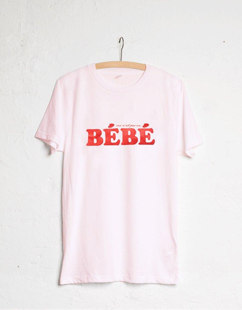 BEBE Rosa-Rot WOMOM T-SHIRT