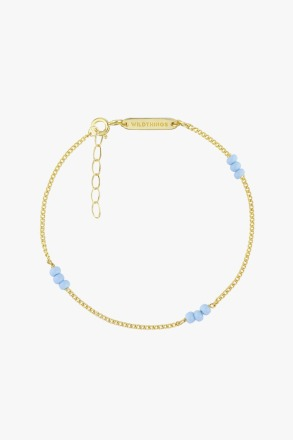 wildthings collectables Triple blue beads bracelet