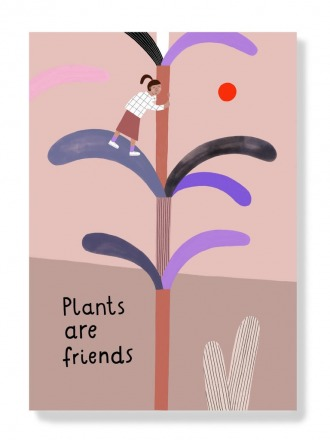 Postkarte - Plants are friends -