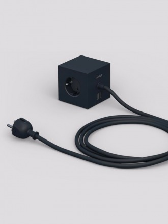 Power Extender Square Black Avolt