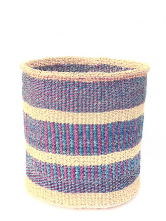 Storage Basket Natur/Lila/Pink FAIR TRADE AND