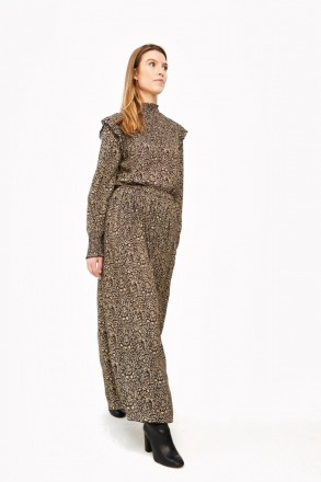 linde paisley skirt - black -