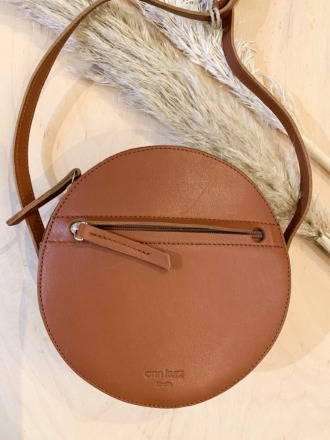 Pia Circle Bag Nappa /Suede Cuoio