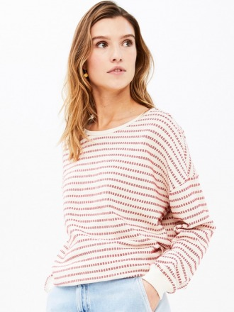 becky multi sweater - salsa -