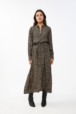 yara paisley dress - black -