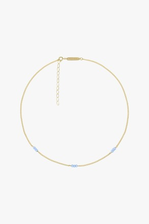 wildthings collectables Triple blue beads necklace