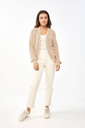 by-bar berry ebany cardigan nude by-bar
