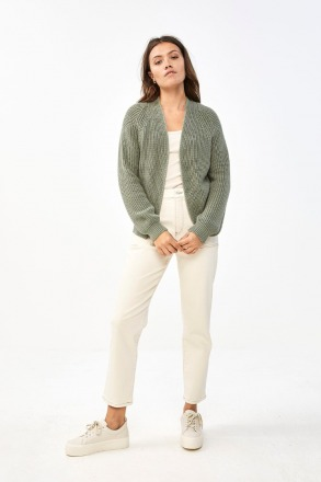 berry ebany cardigan bright olive by-bar