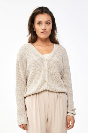 by-bar malu oceano cardigan linen by-bar