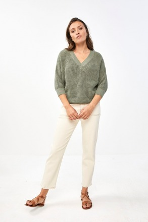 by-bar june pullover bright olive by-bar