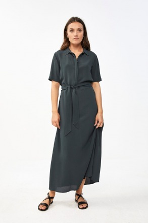 by-bar liz crepe dress vintage green