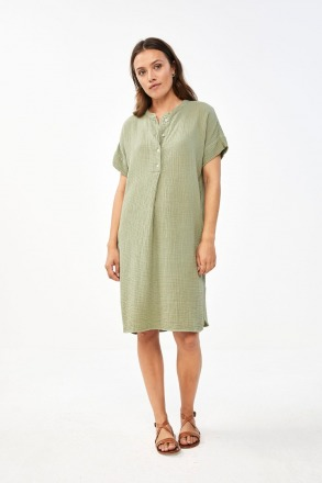 by-bar otty dress bright olive by-bar