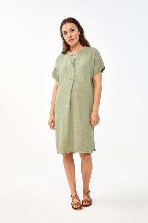 by-bar otty dress bright olive by-bar