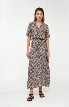 liz bombay dress blue by-bar amsterdam