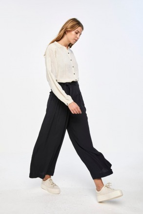 by-bar wanda crepe pant jet black