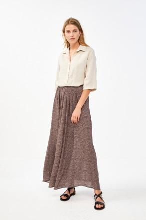 by-bar lien manilla skirt brownie by-bar