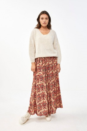 by-bar lien lotus skirt nude by-bar