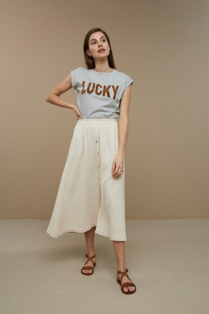 by-bar lucky thelma T-Shirt grey melange