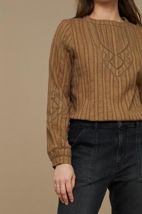 by-bar bonne blouse dry khaki by-bar