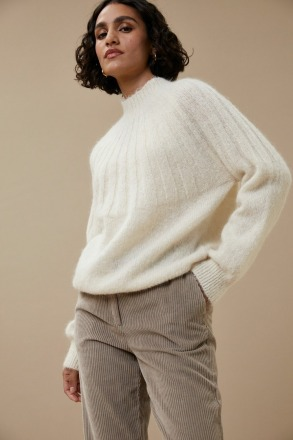 by-bar zoe pullover off white Alpaca