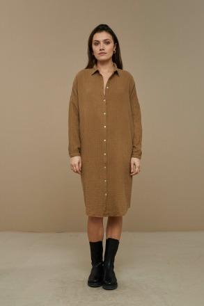 by-bar doppia dress dry khaki by-bar