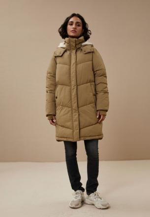 by-bar woody long coat dry khaki