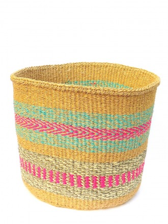 Storage Basket Natur/Pink/Mint FAIR TRADE AND