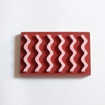 Seifenablage Farben Rot/Rosa VLO Design Hergestellt