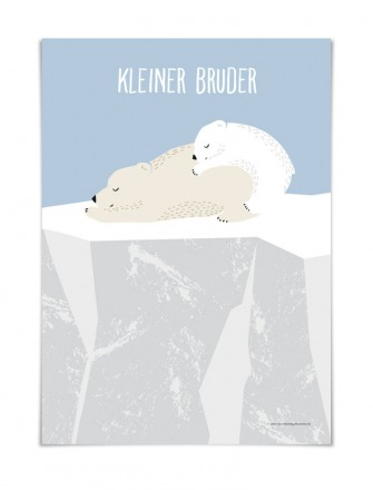 KLEINER BRUDER DIN A5 vierundfünfzig illustration