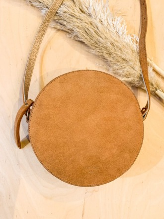 Pia Circle Bag Suede Maiz ann