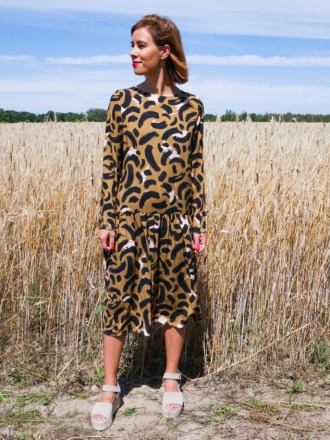 LOULOU DRESS Gold Cat MIO ANIMO