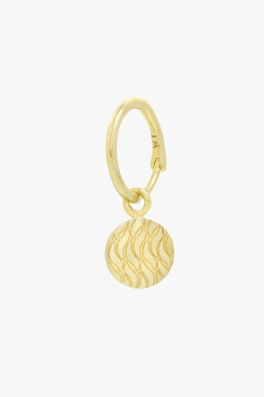 wildthings collectables Waves coin earring gold