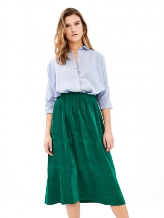 suus plisse skirt - evergreen -