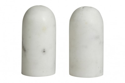 NORDAL SUMAK salt/pepper shakers white marble