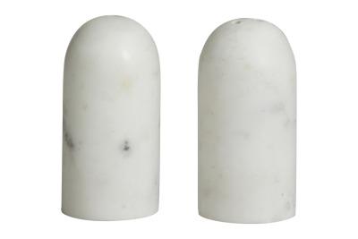 NORDAL SUMAK salt/pepper shakers white marble