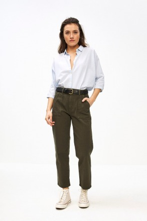 smiley twill pant forest night by-bar